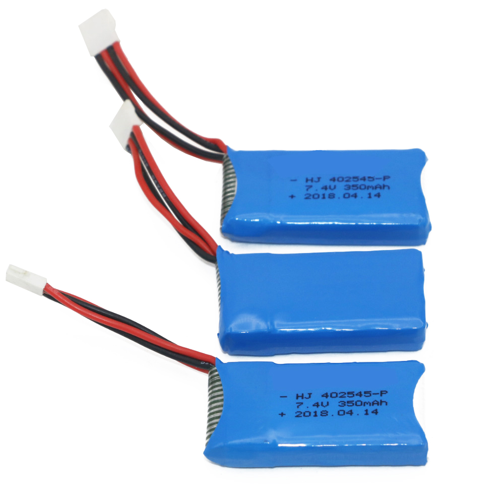 RC Battery, 7.4V <font><b>2S</b></font> <font><b>350mAh</b></font> 25C Lipo Battery For UDI U919/U945A/Mini RC Helicopter Quadcopter Airplane image