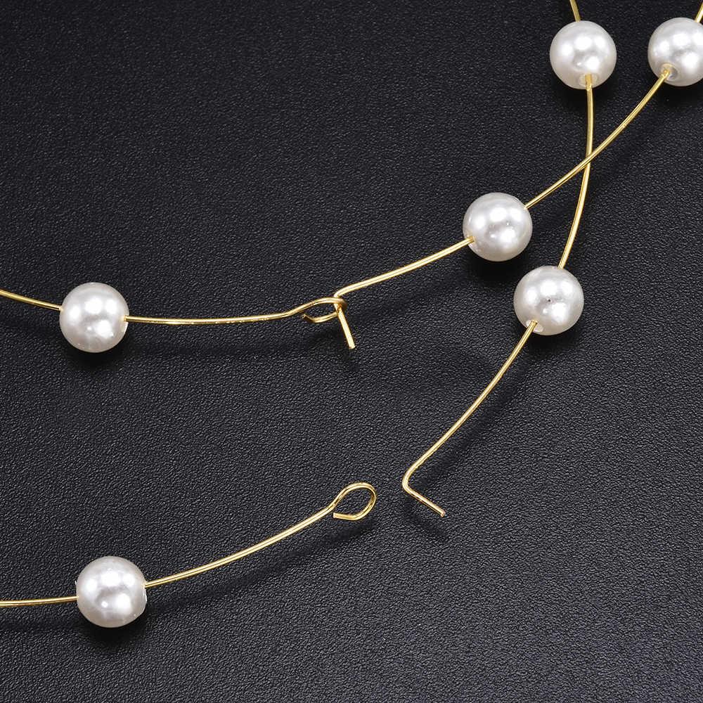אופנה זהב צבע נשים פרל גדול מעגל חישוק להתנדנד Drop עגיל עגילי Aretes דה Mujer Modernos 2020 ארוך עגילים