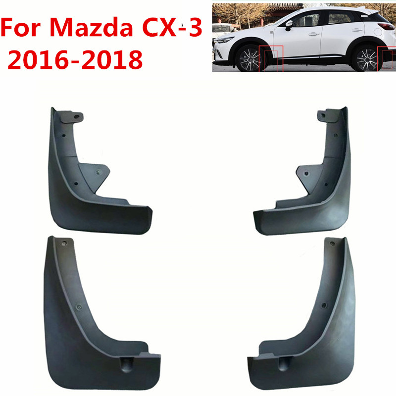 Car Mudflaps For <font><b>Mazda</b></font> <font><b>CX</b></font>-3 CX3 2016 2017 <font><b>2018</b></font> Splash Guards Mud Flap Mudguards Fender Car Styling <font><b>Accessories</b></font> image