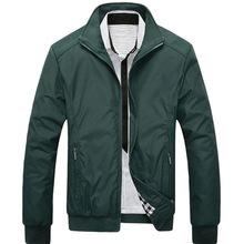 Męskie kurtki casualowa kurtka wąska kurtka płaszcz wiosna kurtki jesienne jednokolorowe męskie odzież sportowa stojak kołnierz męskie kurtki tanie tanio Oddychające Pasuje prawda na wymiar weź swój normalny rozmiar wholesale Outerwear Coats Pockets Spring Autumn Winter