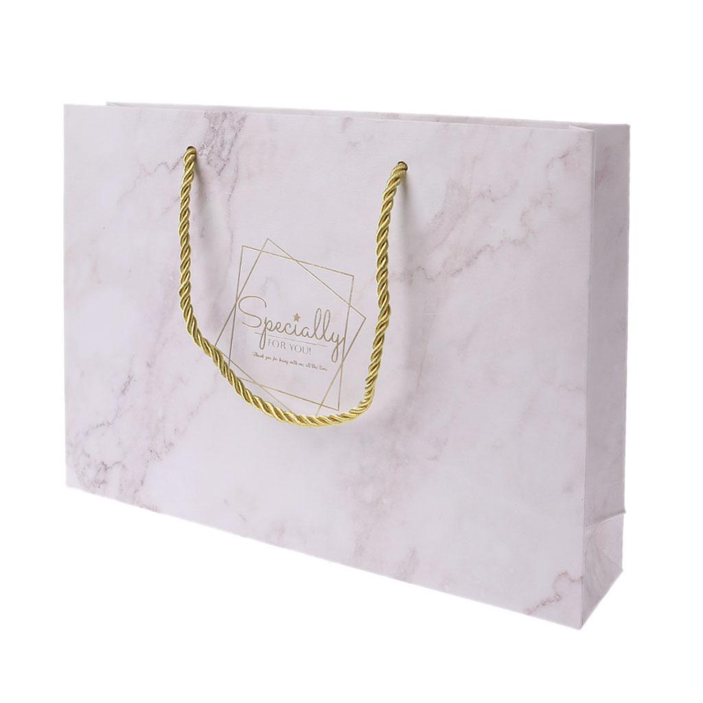 Paper Gift Bag With Handle Wrapping Package Festival Jewelry Wedding Party Recyclable Bags Birthday Supplies
