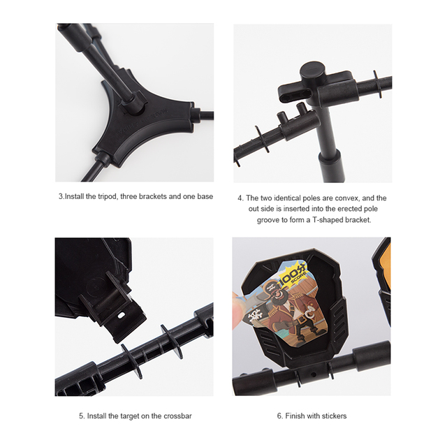 Reset Shooting Target With Stickers Bracket For Outdoor Hunting Foam Dart Blasters Practice Accessories Toy Gun Airsoft Hot Sale 6