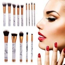 5Pcs Women Marble Texture Marbling Handle Eyeshadow Brush Powder Blending Foundation Makeup Brushes Set Professional
