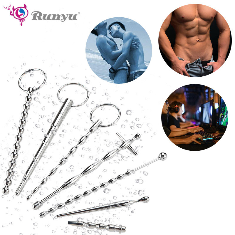 Urethral Sound Penis Plug Catheter Male Hands Masturbator Ball Stretcher Sex Toy For Man Penis Insertion Urethra Dilator