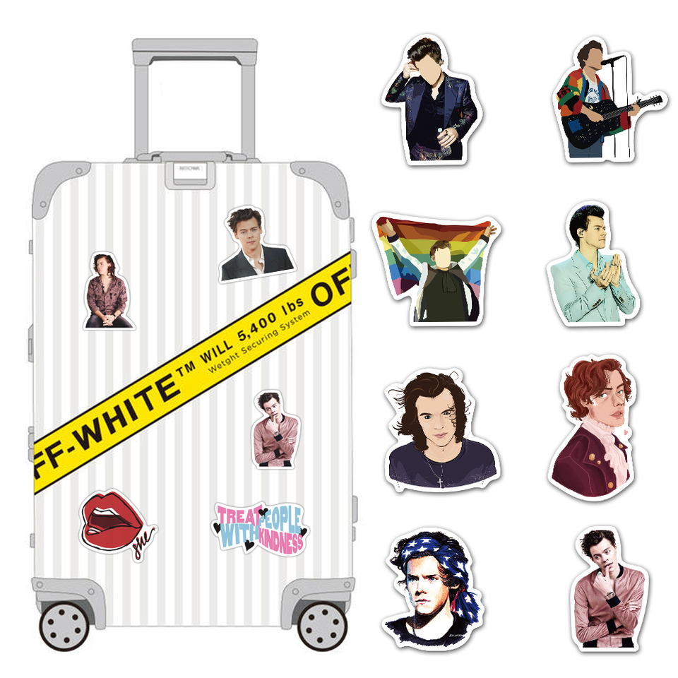 NANANA Not Repeat British Singer Harry Style Luggage Stickers For Fans Gifts To DIY Laptop Phone Fridge Guitar Water Bottle Decor 100 Pcs