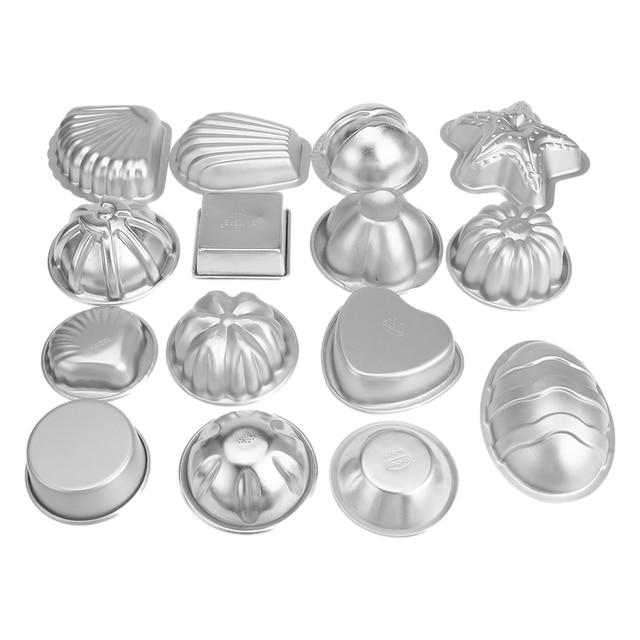 2Pcs/set Aluminium Alloy 3D Bath Bomb Molds DIY Tool Salt Ball Homemade Crafting Mould Semicircle Sphere Shell Bath Accessories 3