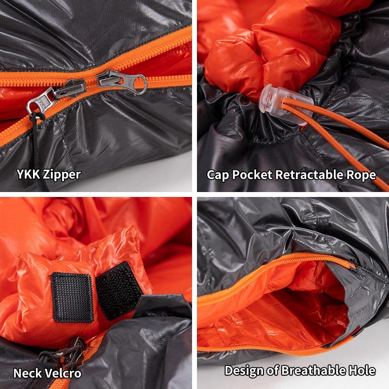 prova vento quente para baixo saco de dormir ultraleve acampamento