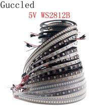 Bande lumineuse RGB Led intelligente WS2812B WS2812 5050, adressable individuellement, noir/blanc, PCB IP30/65/67, DC5V