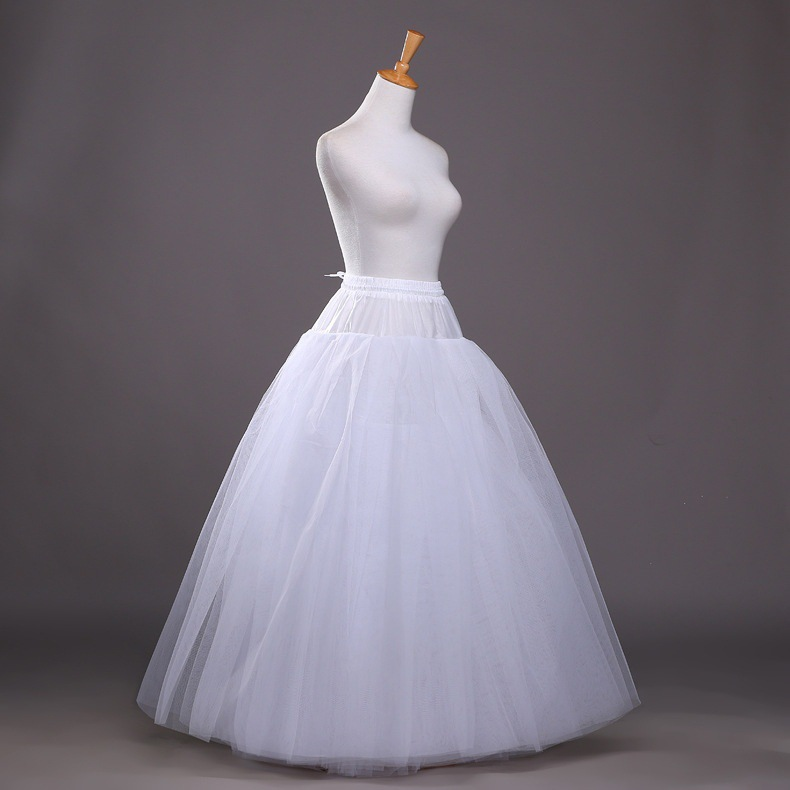 SERMENT Floor-Lenght Wedding Dress Skirt 4 Layer Boneless Wedding Slips Short Petticoat  Wedding Accessories