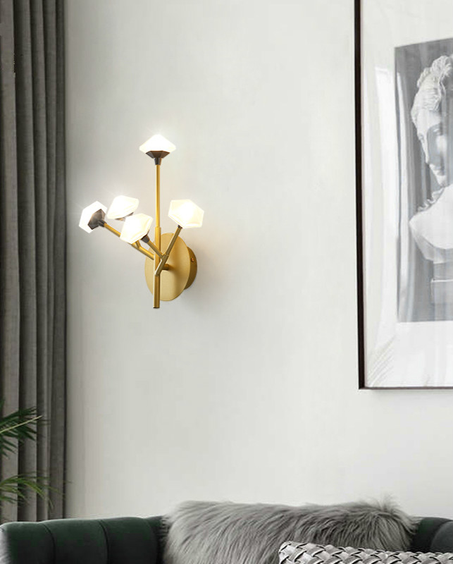 Nordic Wall Lamp Fixture Simple Bedroom Bedside Staircase Hallway Creative Wall Sconce Luxury Background Bathroom Led Wall Light - 4