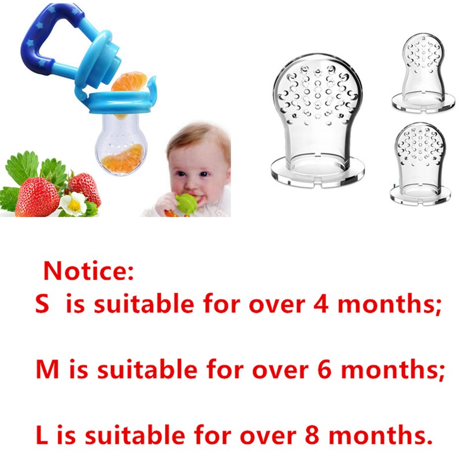 1 Pcs Baby Pacifier Infant Nipple Soother Toddler Kids Pacifier Feeder For Fruits Food Nibler Dummy Baby Feeding Pacifier 4