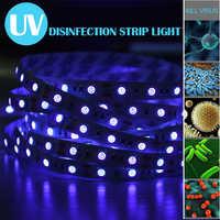 UV Disinfection Strip Light 5m 300 LEDs UVC Sterilization Lamp 5050 Diode LED UVC Sterilizer UVC Lamp Kill Mite Bedroom Kitchen