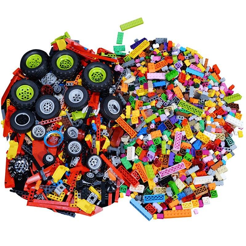 Basic Parts and High-Tech Mixed Packaging Parts Building Blocks Bulk Sets City Creative DIY Bricks Assembly Kids Educational Toy