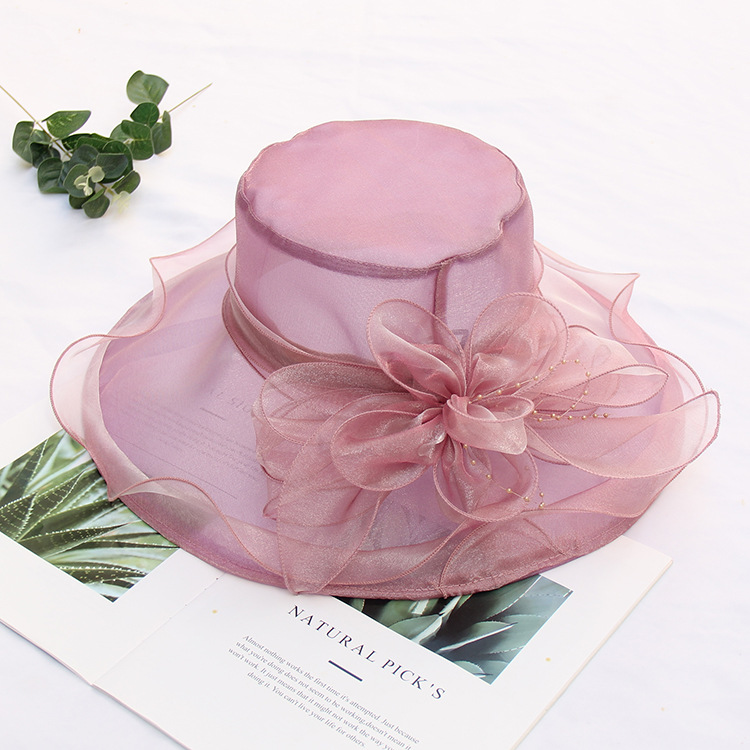 Fashion Pink Wedding Hats And Fascinators For Brides Evening Women Elegant Formal Hair Wedding Accessories 9 Colors Bridal