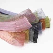 10 jardas 1.5 dream38 38mm dreamlike cor plissado organza fitas para arcos de cabelo diy materiais artesanais m20060202