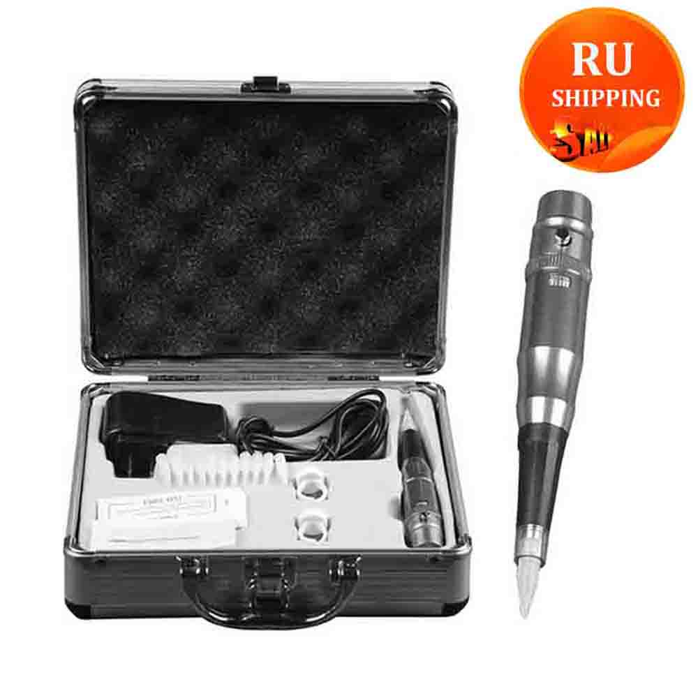 Electric Tattoo Machine Set For For Eyebrows Lip Eyeliner Permanent Makeup Microblading Pen Tattoos With Needles Aluminum Box