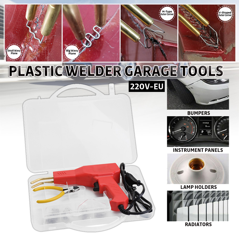 Handy Plastic Welder Garage Tools Handy Hot Staplers Machine PVC Plastic Repairing Machine Car Bumper Repair Hot Stapler 110-22