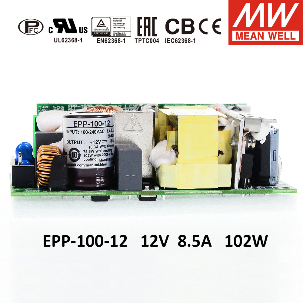 MEAN WELL PFC bare board switching power supply EPP-100 <font><b>100W</b></font> 12V 15V <font><b>24V</b></font> 27V 48Vy <font><b>Meanwell</b></font> PCB Open Frame EPP-100-12 EPP-100-24 image
