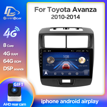 Prelingcar Android 10.0 For TOYOTA Avanza 2010-2014 Car Radio Multimedia Video Player GPS Navigation NO 2 din DVD Octa-Core IPS image