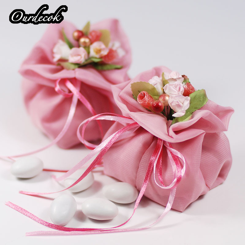 50Pieces lot 6 Colors Organza Wedding Favors Candy Pouch Jewely Gifts Bag Party Supplies Wholesales