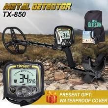 Profissional detector de metais profundidade subterrânea 2.5m scanner busca localizador de ouro caçador tesouro detectando pinpointer