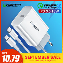 Ugreen Pengisian Cepat 4.0 3.0 QC PD Charger 18W QC4.0 QC3.0 USB Tipe C Cepat Charger untuk iPhone 11 X XS 8 Xiaomi Ponsel PD Charger(China)