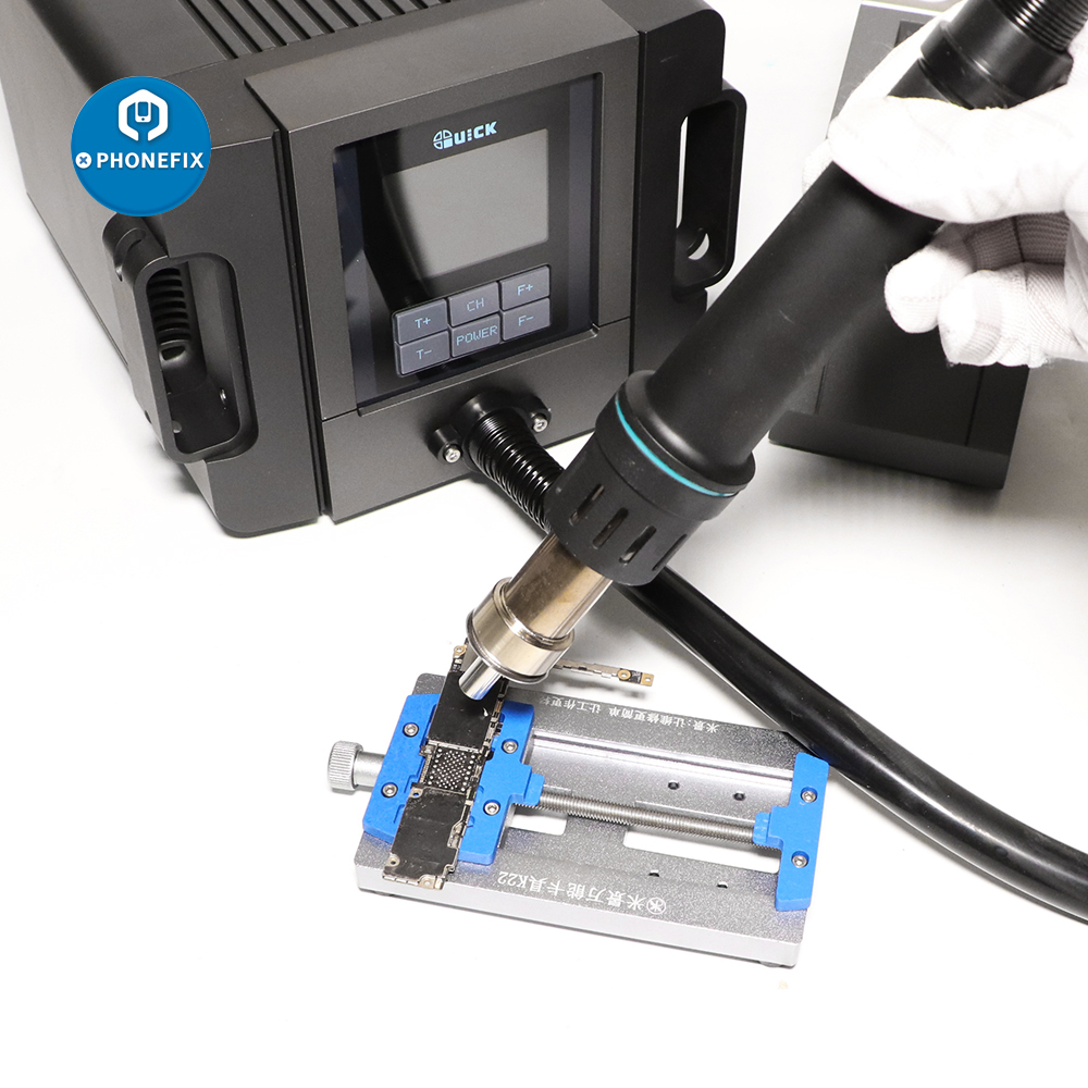 Tools : Quick TR1300A Intelligent Hot Air Soldering Station 1300W Digital Rework Station for Mobile Phone Motherboard Repair Welding