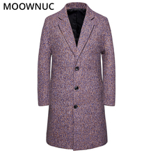 Long Woollen Overcoat Male Winter Mens Clothes Coats Autumn Fashion Business Smart Casual New 2019 Blends MOOWNUC MWC