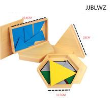 Новые деревянные детские игрушки Международный треугольник Монтессори