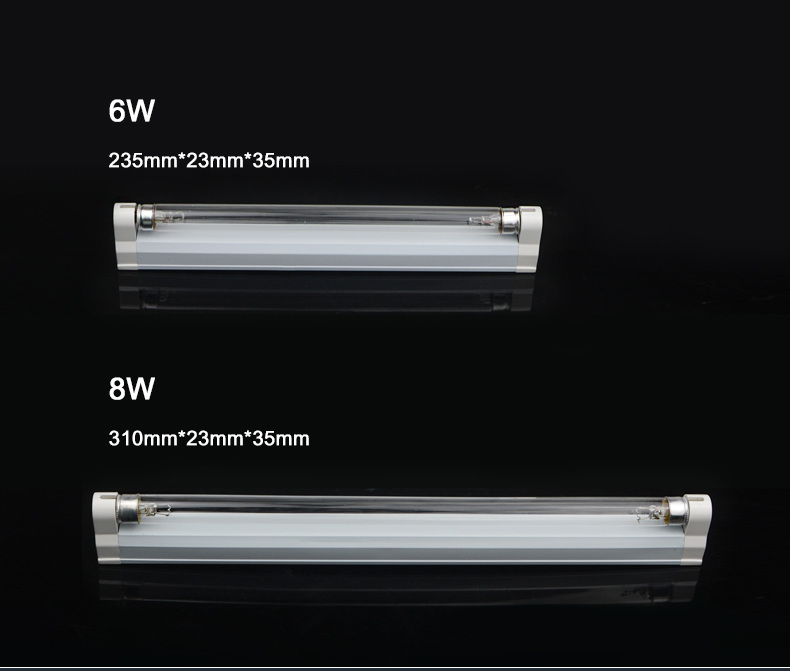 110V 220V UV Sterilizer Tube Ozone Lights for New coronavirus 6W 8W Kill Virus Disinfectant Bactericidal Ultraviolet Quartz lamp 27