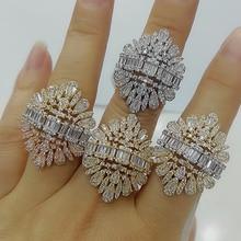 GODKI 2020 New Fashion Luxury Charm AAA Baguette Cut Cubic Zircon Wedding Rings for Women T Shape Stone Party Wedding Jewelry