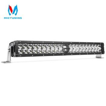 MICTUNING O-guider 22 Inch LED Driving Light Bar with Laser Light 6000K Highspeed Spot Combo Light for Off-road SUV UTV ATV Boat