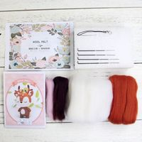 2020 nuevo ciervo sica Animal muñeca lana manualidad de fieltro DIY sin terminar Poked Set Kit para manualidades para Material de aguja bolsa paquete