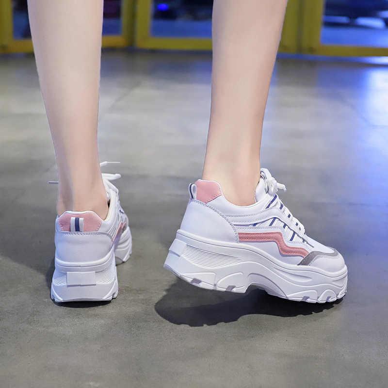 2020 das sapatilhas das mulheres sapatos brancos para a mulher ao ar livre sapatos de desporto feminino ginásio atlético sapatos caminhada zapatos roupas mujer U21-44