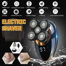 Electric Shaver USB Rechargeable 5 In 1 4D IPX5 Ergonomic De