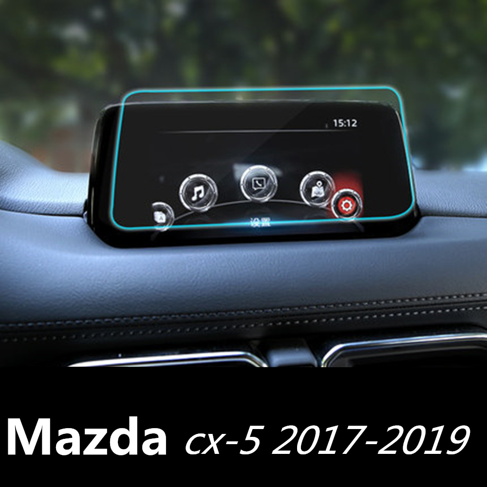 Car Navigation Tempered Glass Screen Protector Steel Portective Film For Mazda <font><b>CX</b></font>-<font><b>5</b></font> CX5 <font><b>CX</b></font> <font><b>5</b></font> 2017 <font><b>2018</b></font> Car styling Accessories image