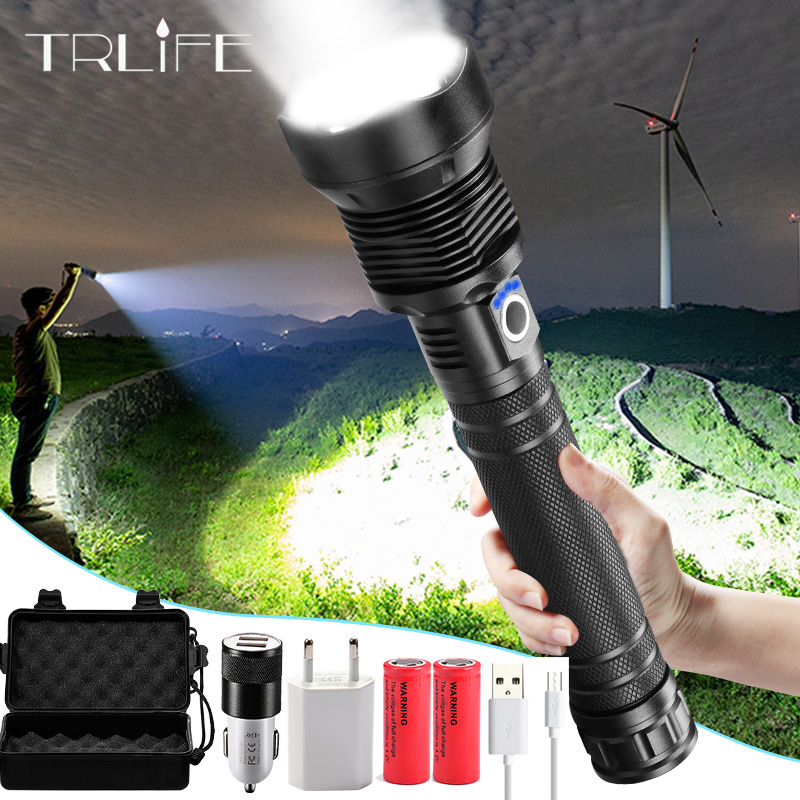 On sale  Tactical XHP70.2 LED Flashlight Most Powerful XLamp XHP50 Rechargeable USB Zoom Torch XHP70 18650 2