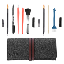 Painting Scratch Pen Repair Scratch Tool Set with Bamboo Sticks Scraper Black Brush for Kids Children Scratch Painting Gift