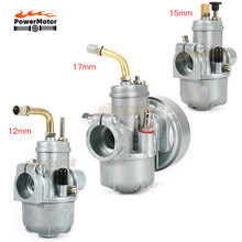 12mm 15mm 17mm Motorcycle Carburetor Puch for Moped Bing Style Carb Stock Maxi Sport Luxe Newport Cobra Carburador Engines E50