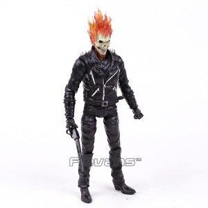 Image 2 - Ghost rider johnny blaze pvc figura de ação collectible modelo brinquedo 23cm