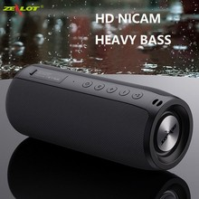 ZEALOT Powerful Bluetooth Speaker Bass Wireless Portable Subwoofer Waterproof Sound Box Support TF, TWS, USB Flash Drive