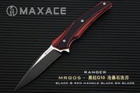 MAXACE Ranger folding knife pocket knife ASSAB XW 42 steel black titanium coating blade