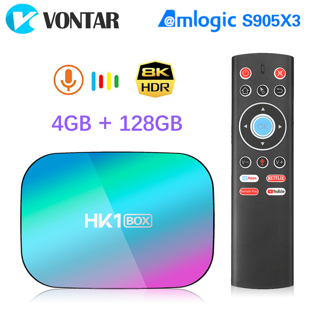 2020 VONTAR HK1 BOX 8K 4GB 128GB TV Box Amlogic S905X3 Android 9.0 1000M Wifi 4K GooglePlay Netflix Youtube Android9 Set Top Box