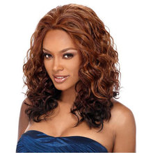Amir Long Synthetic Wigs for African American Women Loose Wave Hair Ombre Brown