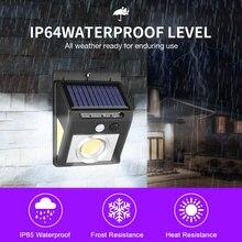 все цены на 4pcs Solar Light PIR Motion Sensor Solar Lamp Three-Sided 37 LED Outdoor Lighting Energy Saving Garden Lamp Wall Night Light онлайн