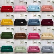 Couverture universelle housse de canapé pour salon couleur unie Stretch canapé couverture décor à la maison élastique coin canapé housse 1/2/3/4 siège