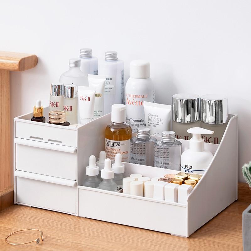Large Capacity Cosmetic Storage Box Drawer Makeup Organizer Jewelry Nail Polish Makeup Container Desktop Sundries Storage Box