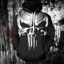 The Superheroes Punisher Hoodie Winter Solder Venom Jacket Deadpool 2 Cosplay 3D Printed Hoodies Marvel 4