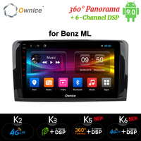 Ownice k3 k5 k6 Android 9.0 8 CORE CAR Player For Mercedes Benz GL ML CLASS W164 ML350 ML500 X164 GL320 GPS Radio 4G DSP SPDIF