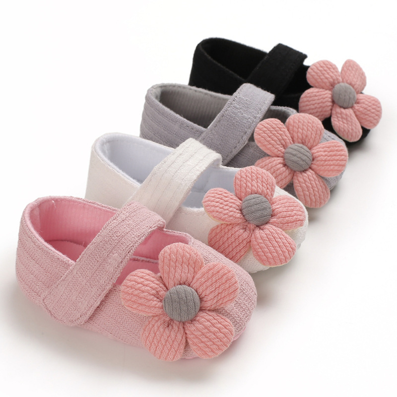 Toddler Newborn Baby Girl Shoes Comfort Cotton Cute Flower Dress Light Infant First Walker Princess Crawl Baby Crib Moccasins